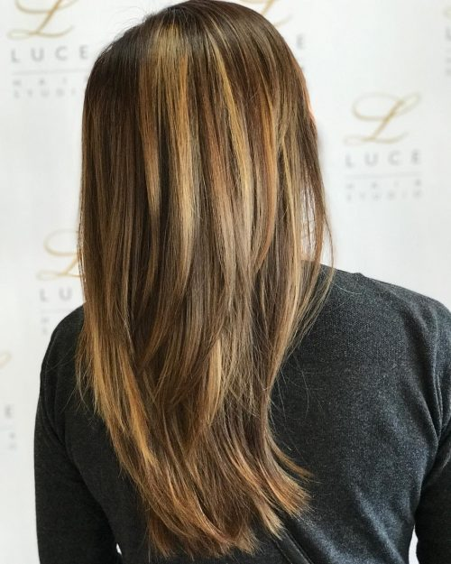 Picture of a straightened long layers