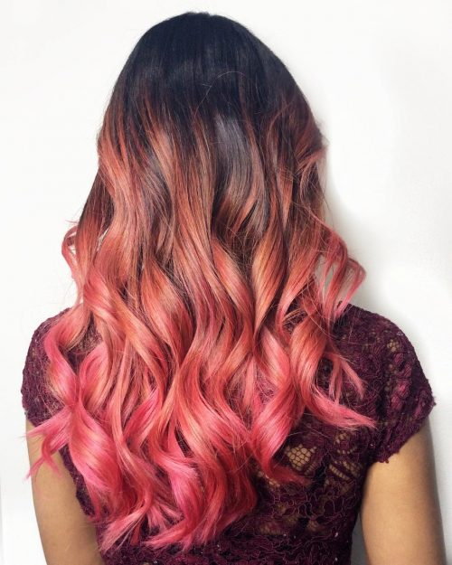 Strawberry and Pink ombré