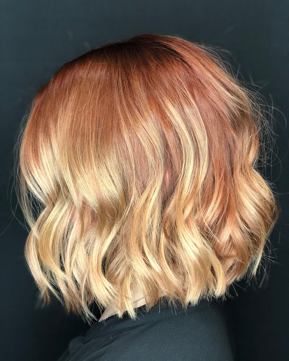 Strawberry blonde ombre hair color