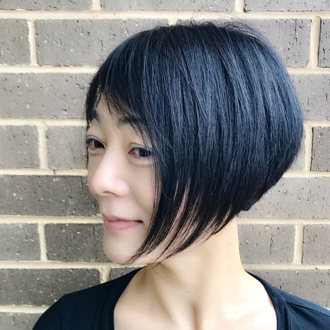 Strong Graduated Structure hairstyle