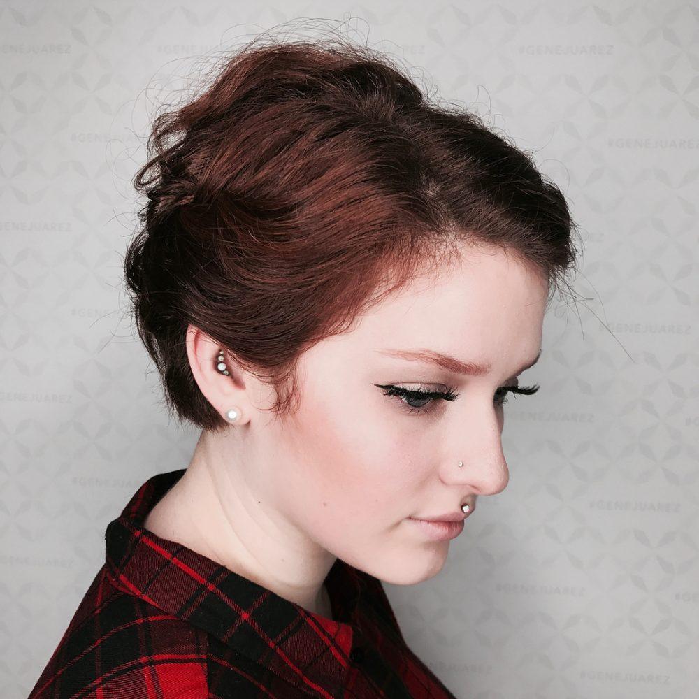Stylish Pixie Updo hairstyle