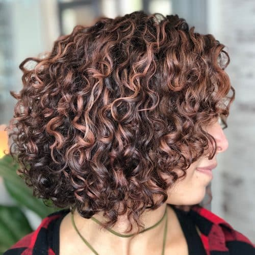 Short Curly Hair With Bangs And Layers 37