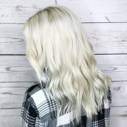 Picture of a stylish spring trend blonde lowlights