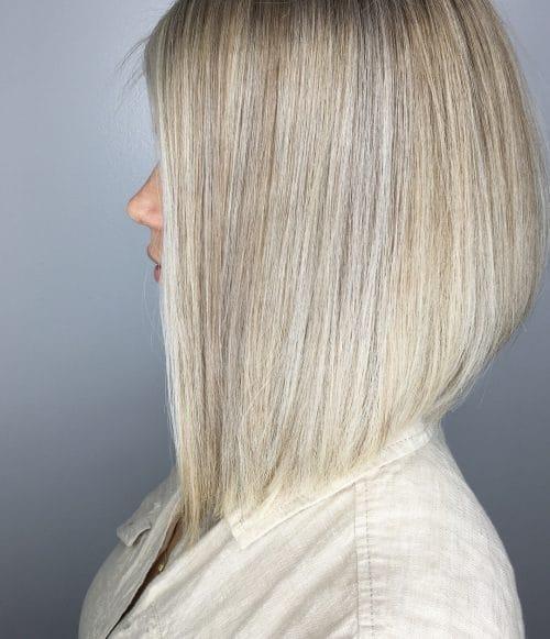 Stylish Blonde Lob hairstyle