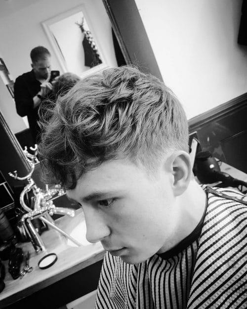 A stylish forward wavy haircut