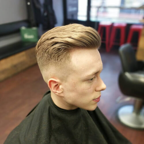 stylish fade haircut for men