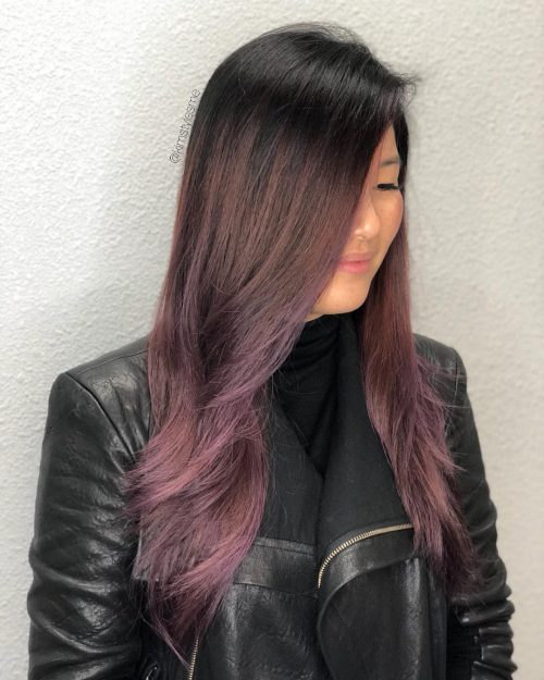 Purple and Brunette Ombre