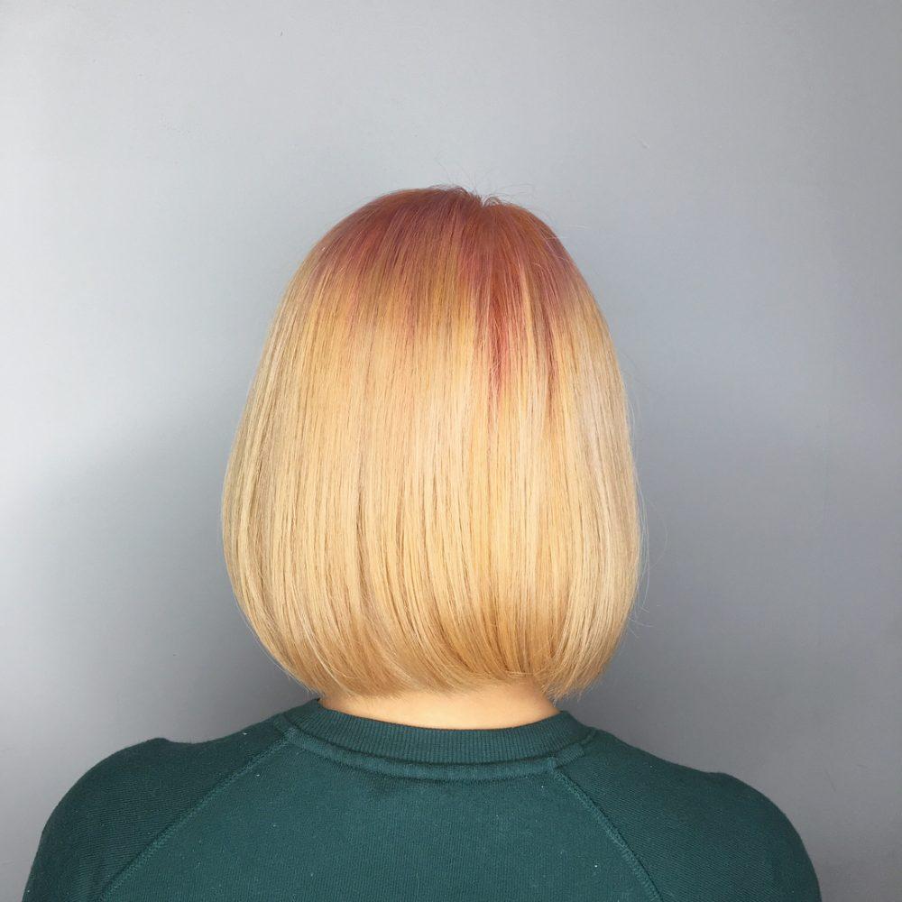 Subtle Peach Gradient hairstyle