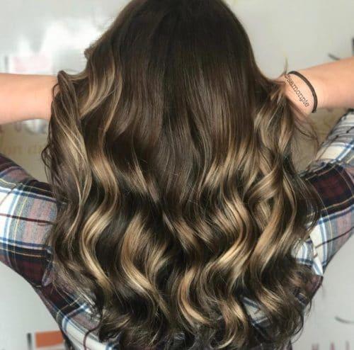 Subtle Brunette Balayage hairstyle