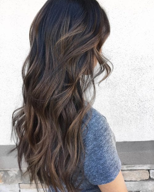 Brown Highlights On Black Hair Brown Hairs