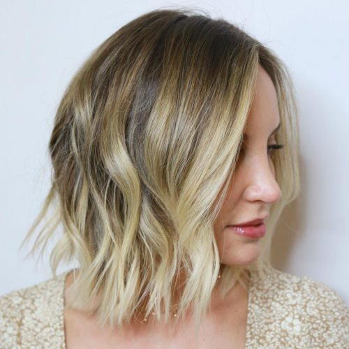 Sun-Kissed Blonde Ombre for Choppy Hair