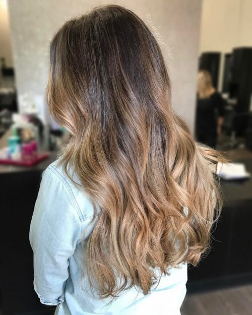 Sunkissed Brunette Ombre hairstyle