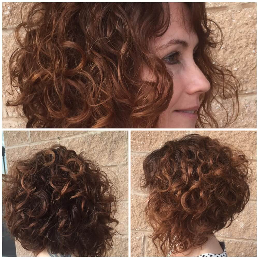 Short Curly Haircuts for round face