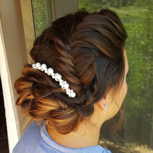 Sweeping Fishtail Braid hairstyle
