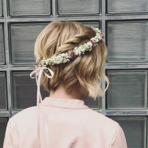Picture of a sweet floral headband