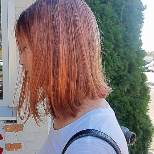 talk of rose gold hair