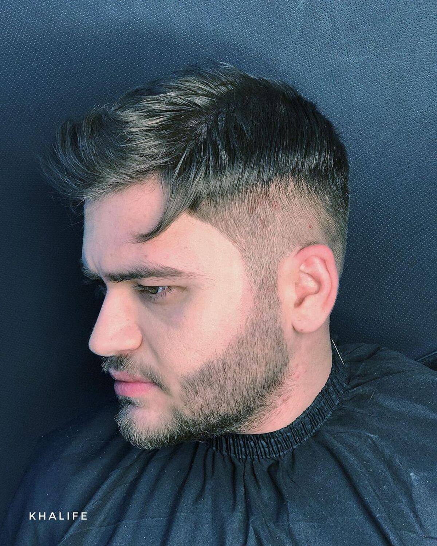 Decoloración de la barba afilada