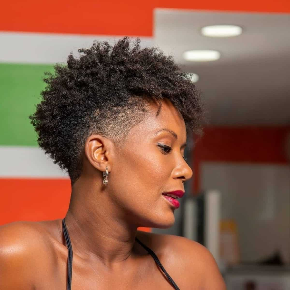 Taper fade for natural curls