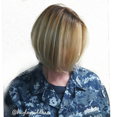 tapered a line bob for women over 50