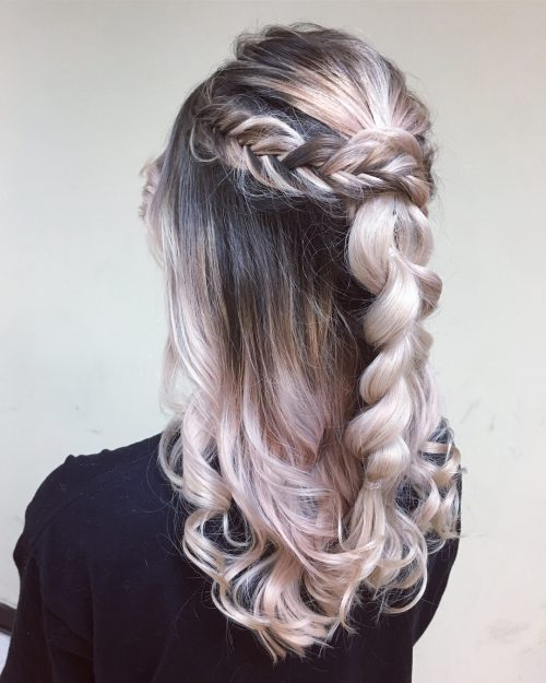 Picture of a texture queen princess hairstyle