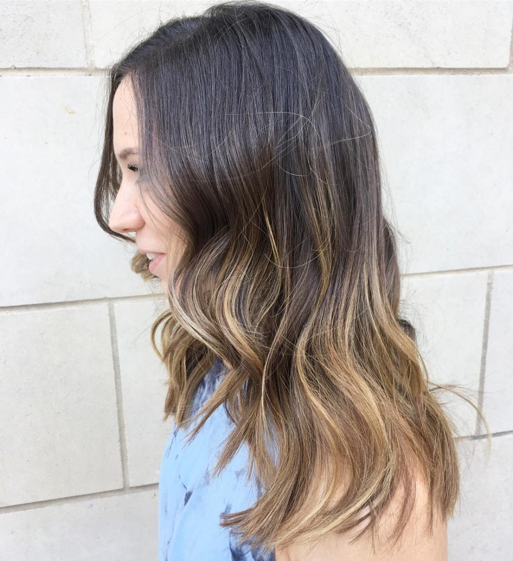 Effortless Ash Brown To Caramel Ombre. Textured U0026 Effortless Hairstyle