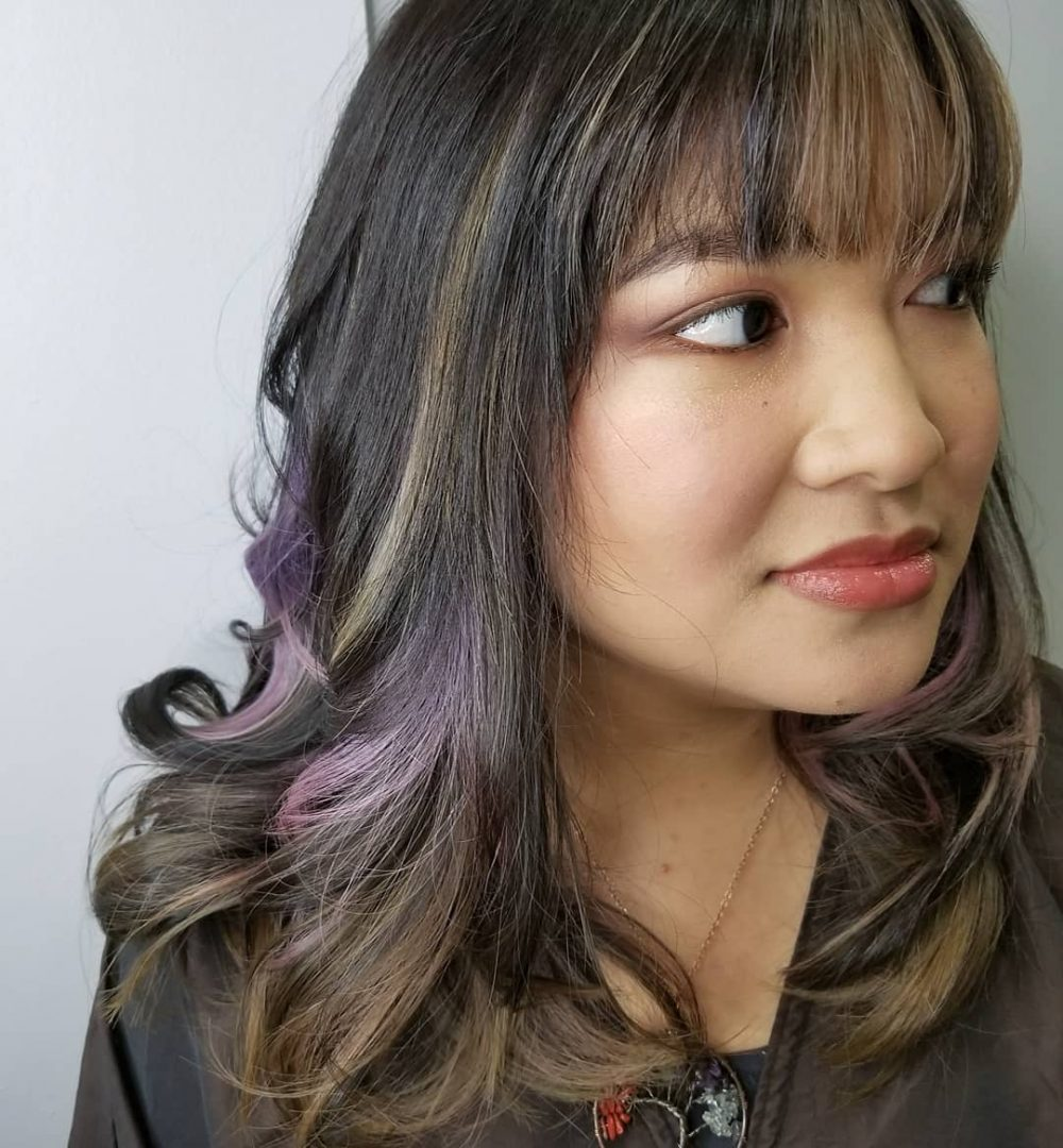 Textured Blunt Fringe hairstyle