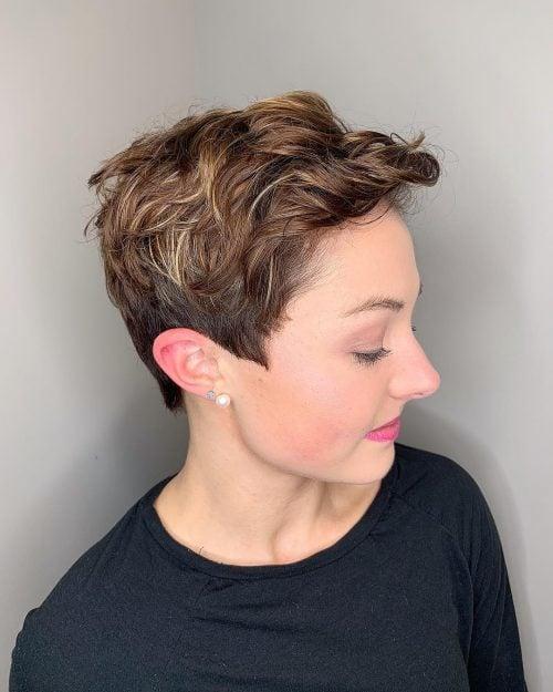 Pixie texturizado para cabello fino