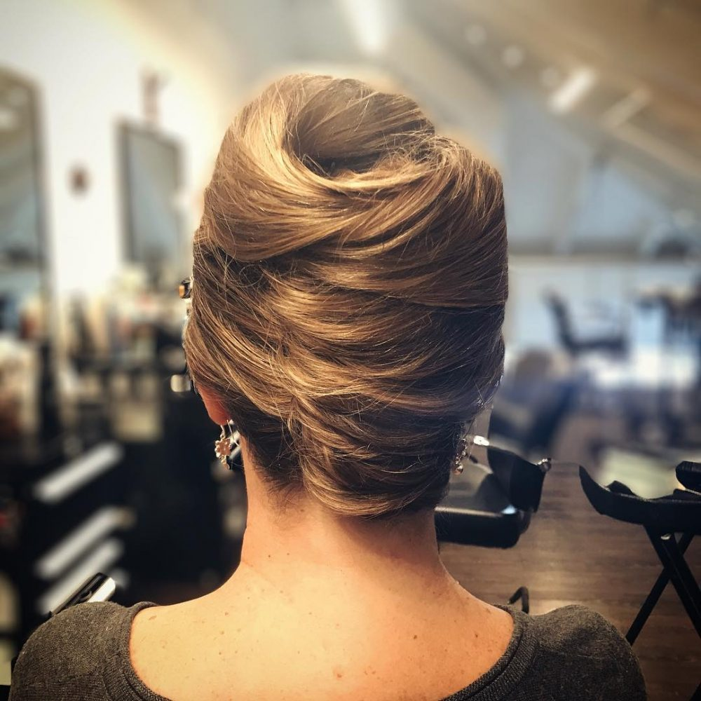 Textured French Twist hairstyle