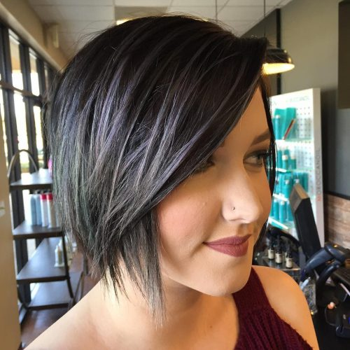 Picture of a textured inverted bob short hairstyle for long faces