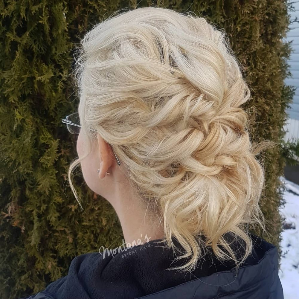 Textured Low Updo hairstyle