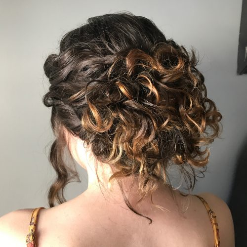 Picture of a textured messy updo