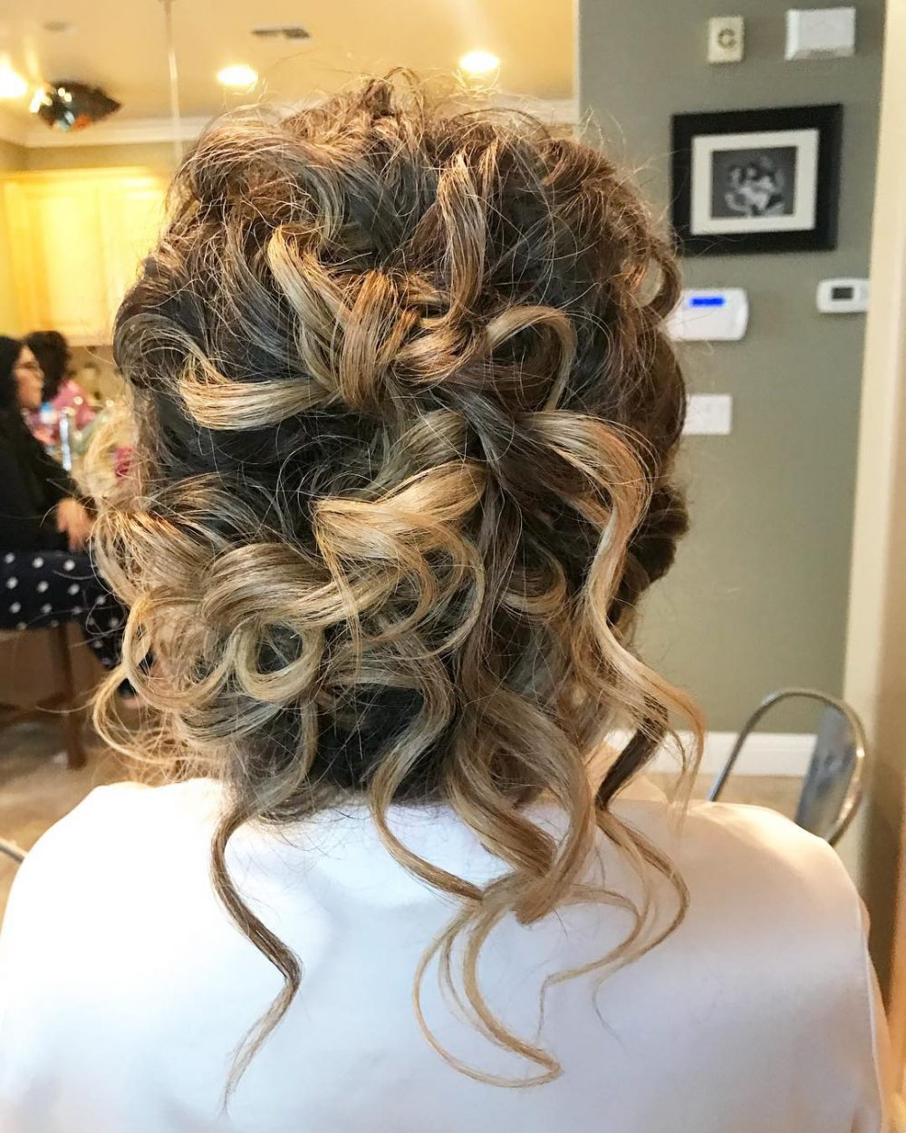 Textured Romantic Updo hairstyle
