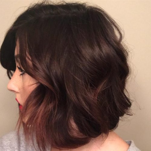 Picture of a textured faux bob