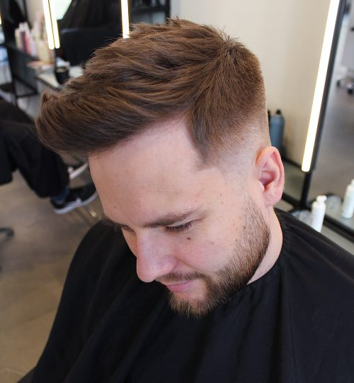 Picture of a textured top taper fade