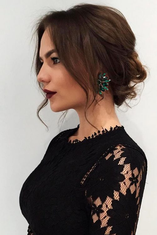 25 Most Beautiful Updos for Medium Length Hair (New for 2018)