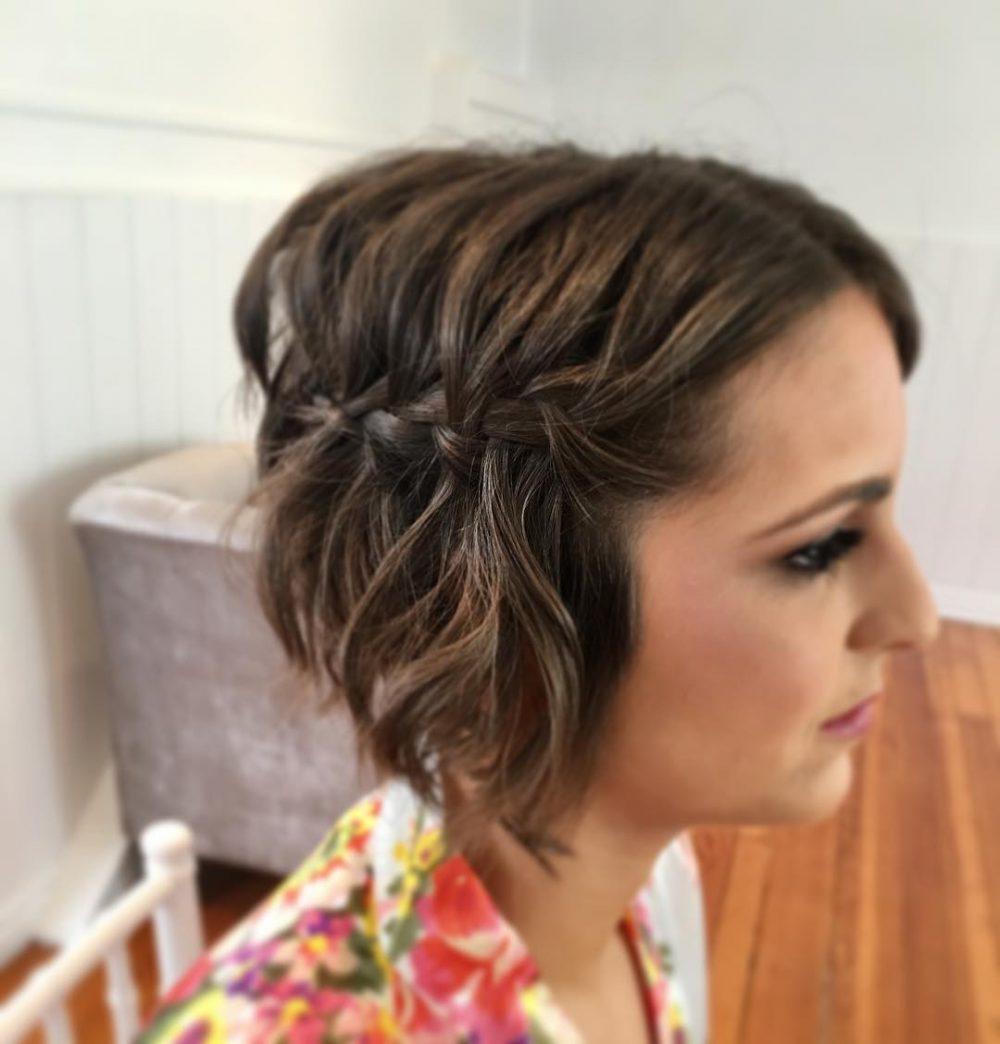 Textured Waterfall Braid hairstyle