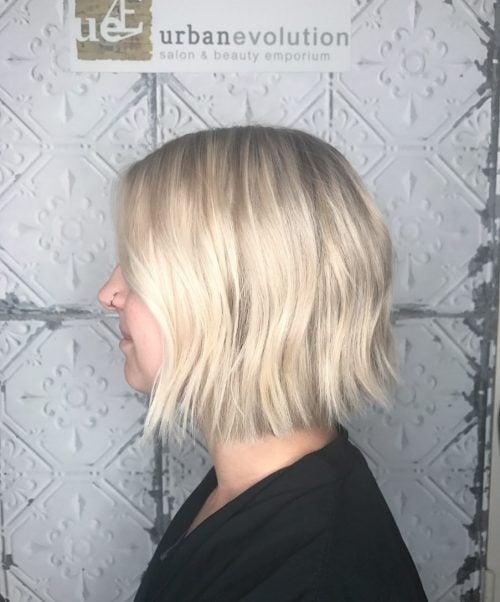 Textured Soft Blonde LOB cut