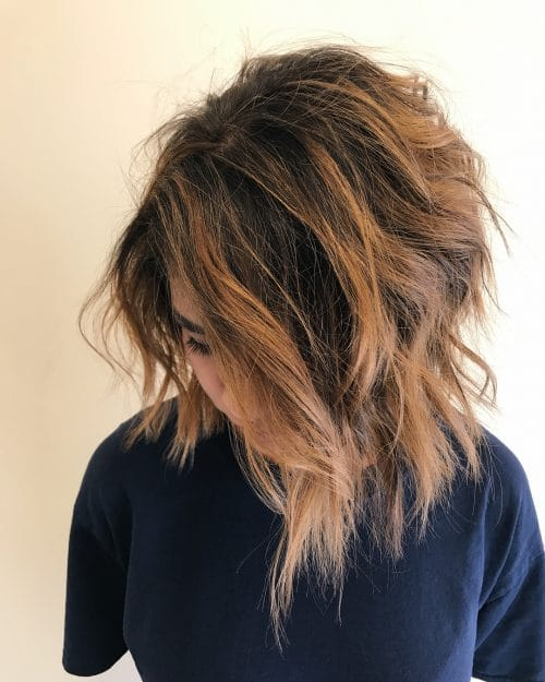 Textured Inverted Bob hairstyle