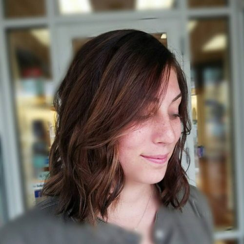 Textured Layered Bob hairstyle
