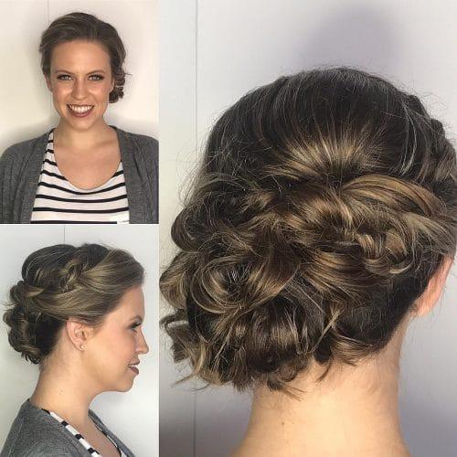 Textured Side Bun hairstyle