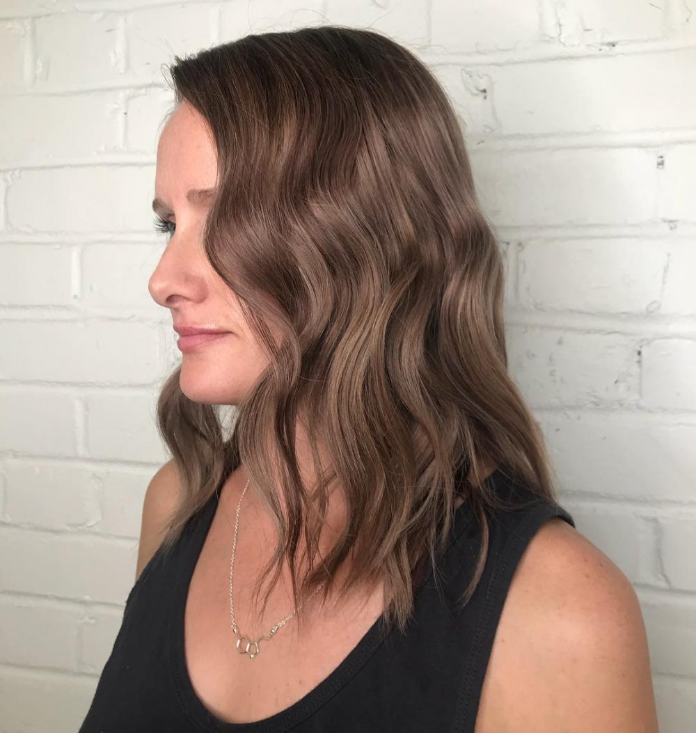 Textured Soft Lob hairstyle