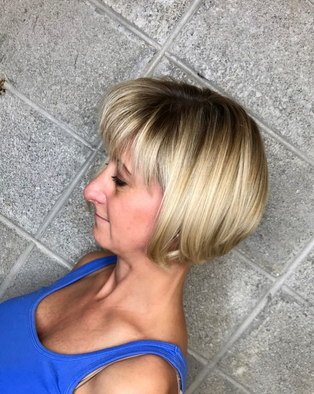 Texturized Graduated Bob hairstyle
