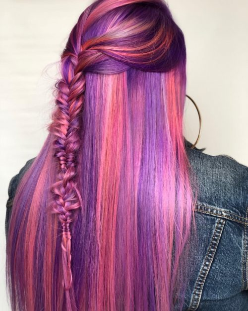 Fishtail Braid on Mermaid Hair