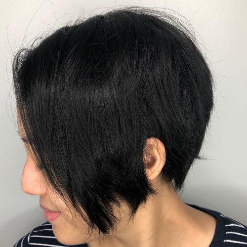 El Pixie Bob de ángulo largo para cabello grueso