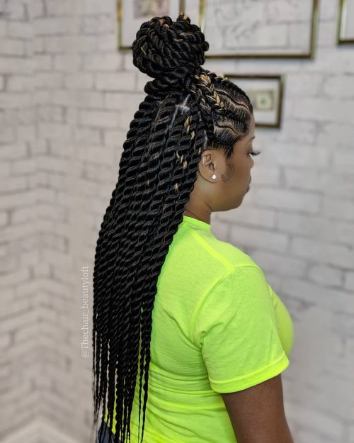 20 Hottest Twist Braid Styles Right Now