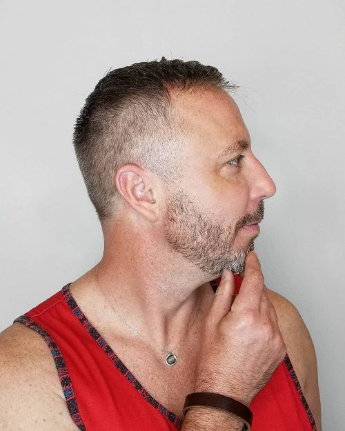 Thin hair with taper fade