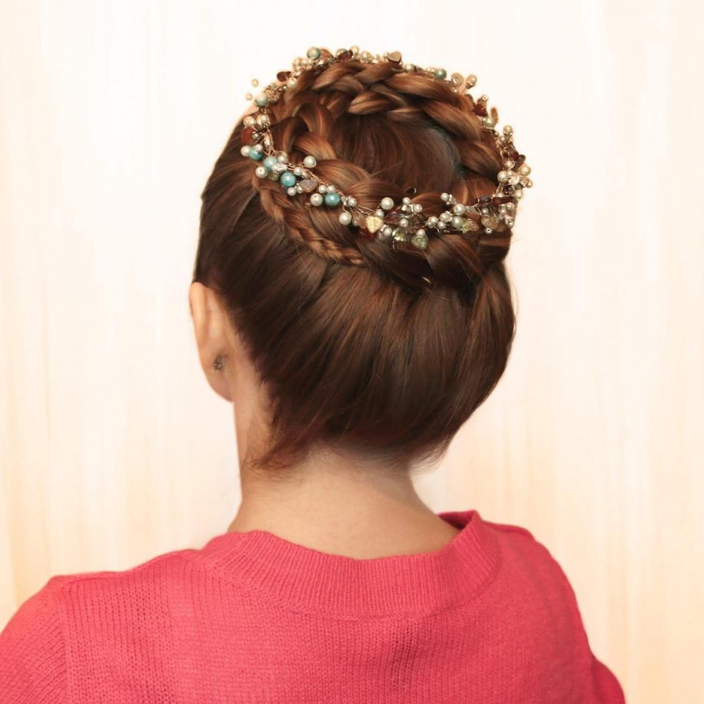 Tiara Crown Braid hairstyle