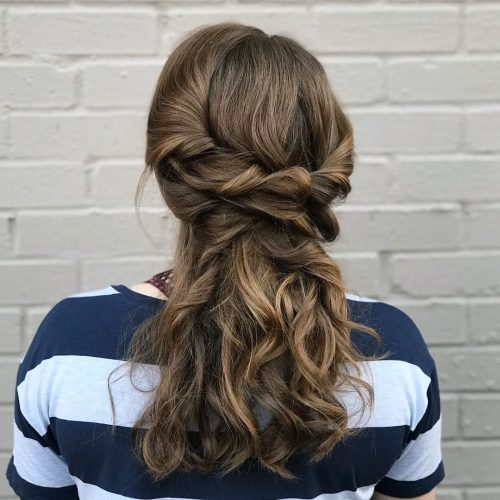 Picture of a tiara of twists princess hairstyle