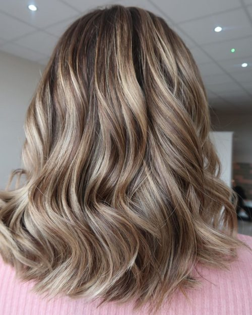 toffee brown highlights on light brown hair