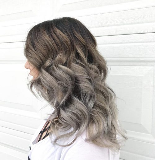 Toffee Brunette to Grey for Long Hair